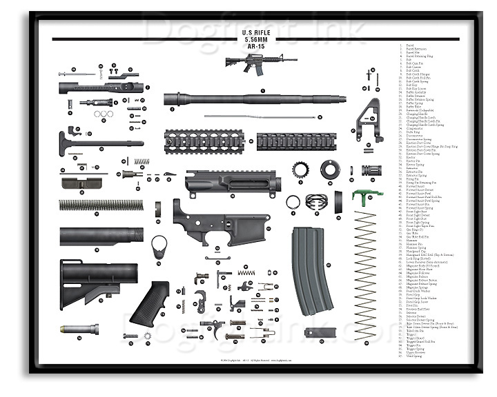 ar 15 exploded parts diagram : ar15 parts diagram - findchart.co