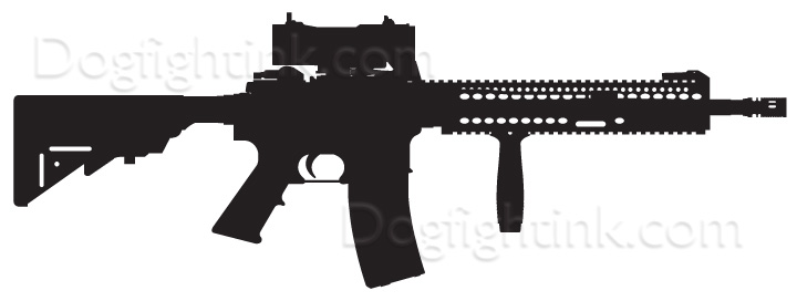 M4A1 Decal  Measures 9  x3 2    M4a1 Outline